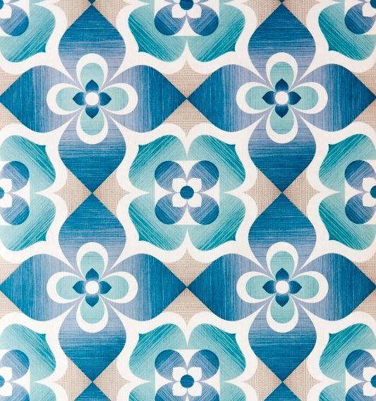 retro pattern blue aqua teal turquoise