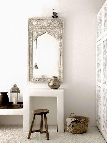 Marokańskie aranżacje wnętrza - lustro