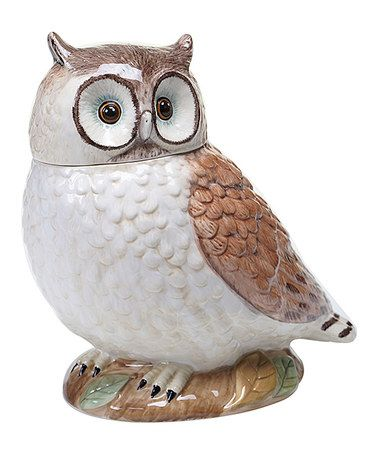 Another great find on #zulily! Rustic Nature Owl Cookie Jar #zulilyfinds
