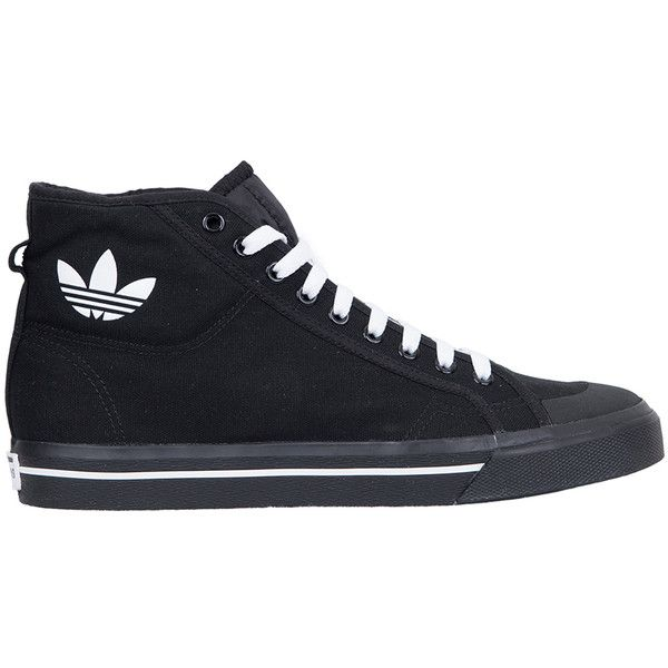 Adidas by Raf Simons Raf Spirit high top canvas sneakers (640 PEN) ❤ liked on Polyvore featuring men's fashion, men's shoes, men's sneakers, shoes, men, sneakers, nero, mens hi tops, mens sneakers and mens shoes