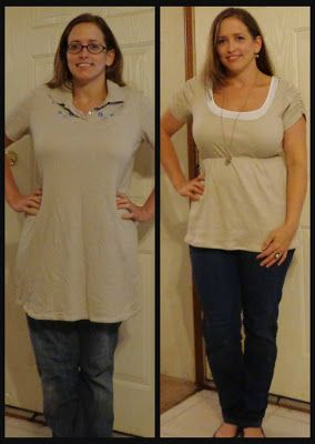 SoSoSewer - Tunic Refashion From A Dress  ~Dress Refashion, Shirt Refashion, Clothing Refashion~