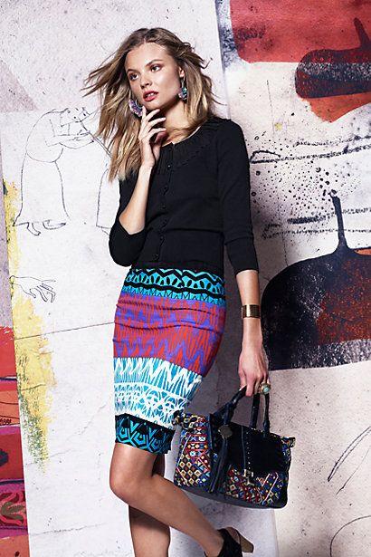 Montagne Pencil Skirt - http://anthropologie.com
