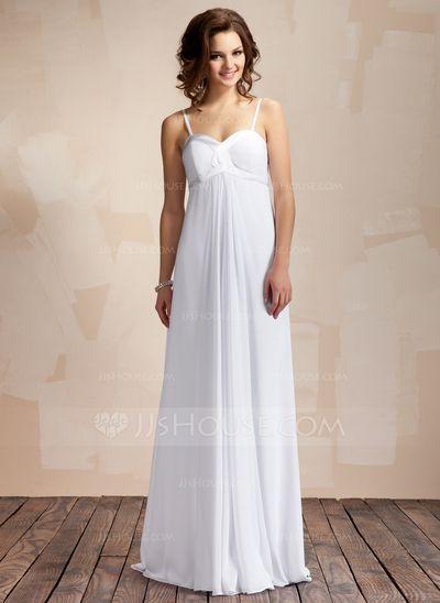 Wedding dressses length chiffon wedding dresses ruffle 002011568
