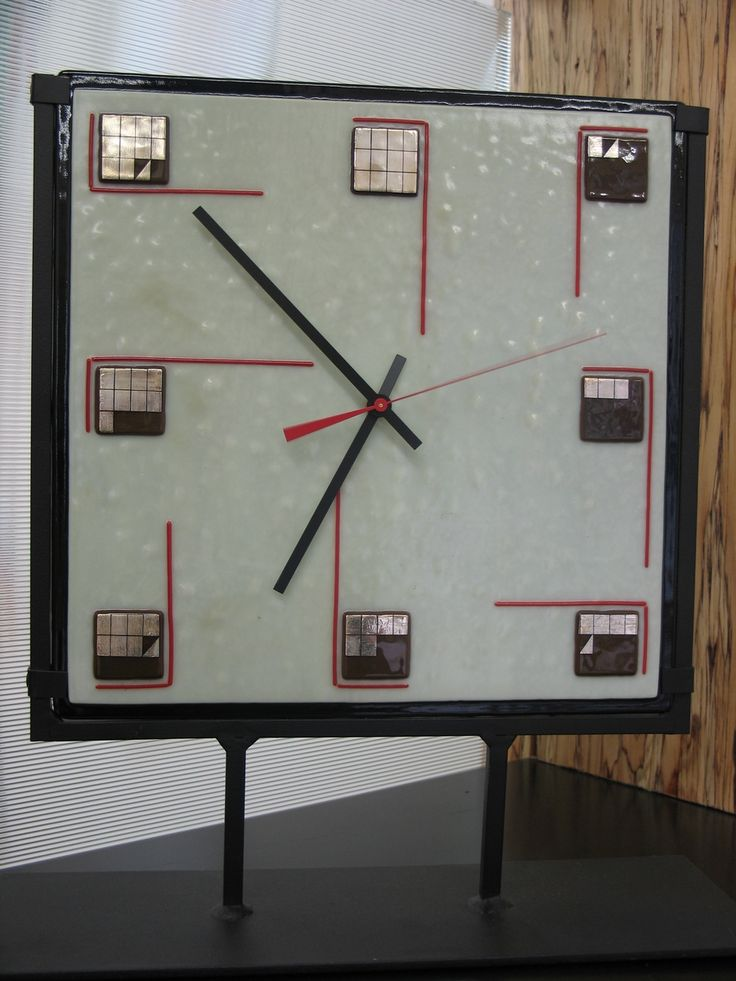 27 best Wall Clocks images on Pinterest Fused glass Glass art