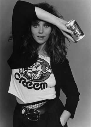 """""""Sweet Connie"""" groupie mentioned in the Grand Funk song, American Band. And...apparently this is not Connie...It's Bebe Buell, Liv Tyler's mom"""