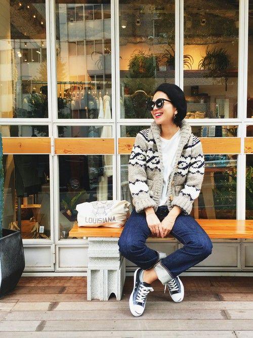 LIFE's#203代官山店 | 橋本江莉果さんのハンチング・ベレー帽「CA4LA 」を使ったコーディネート