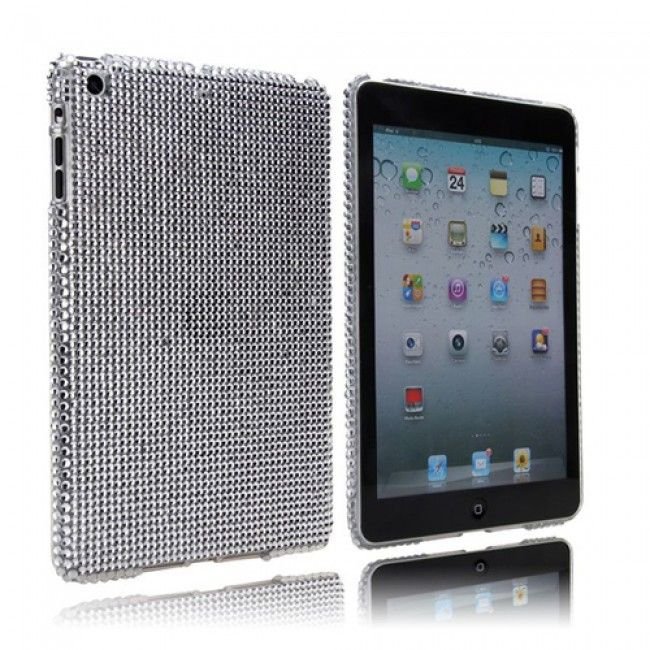Diamond Drops (Hopeinen) iPad Mini Kotelo - http://lux-case.fi/diamond-drops-hopeinen-ipad-mini-kotelo.html