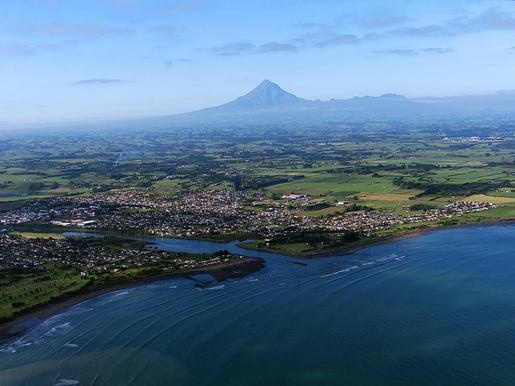 New Plymouth, New Zealand  One of the only places you can Ski and Surf in one day!