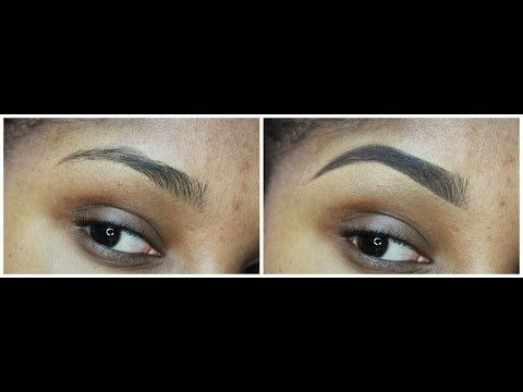 How to : Anastasia Beverly Hills Dip Brow pomade- Dark Brown - Sharp/natural looking brow tutorial - YouTube