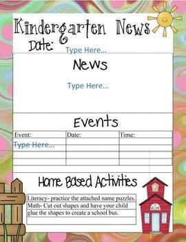 Best 25+ Kindergarten newsletter ideas on Pinterest   Newsletter ...