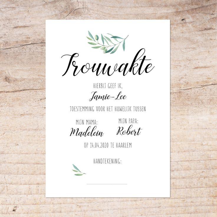 TROUWAKTE | Tijdens de ceremonie kunnen kinderen een belangrijke rol vervullen d… – Wedding ❤