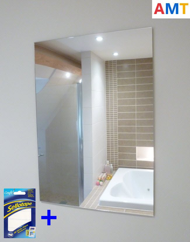 Brand New Acrylic Mirror Sheets Anti Shatter Safety Plastic Perspex Tiles
