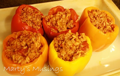 Stuffed peppers recipe is saucy hoping these are more - Cuisine easy saint orens ...