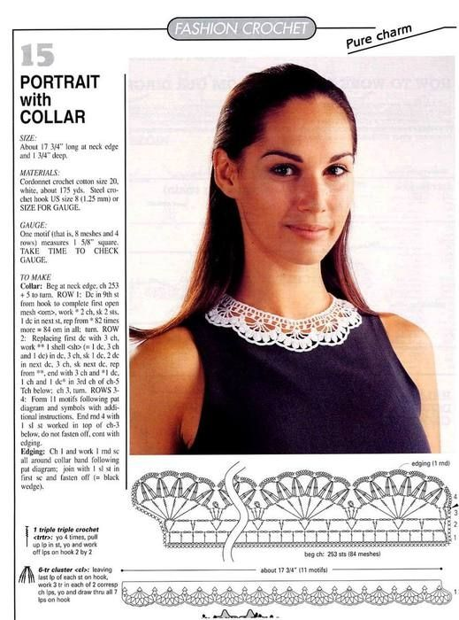 this collar looks like real lace!! and it is crochet!