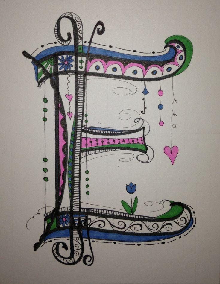 My Zen Tangle / Doodle Art Working on the alphabet,