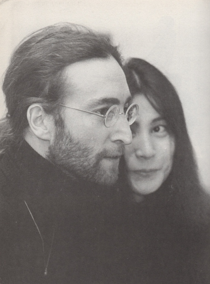 """John Lennon with Yoko Ono ''woman, I can hardly express  My mixed emotions and my thoughtlessness After all, I'm forever in your debt.. """""""