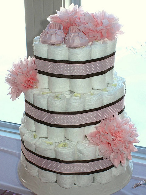 diaper cake by The Sweet Life by design, via Flickr