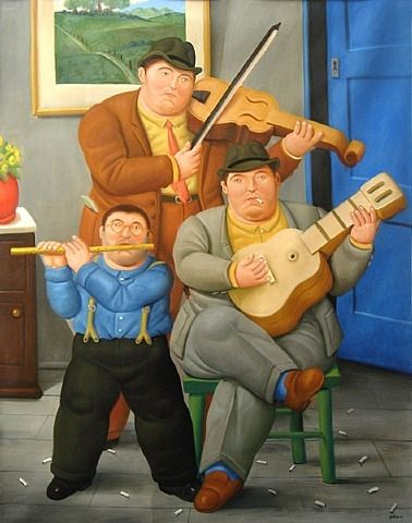 The Musicians by Fernando Botero from Gasiunasen Gallery
