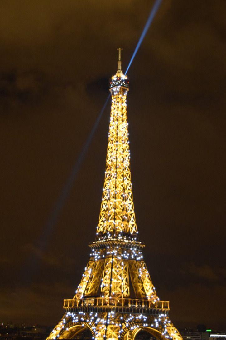 Eiffel Tower at night. Paris