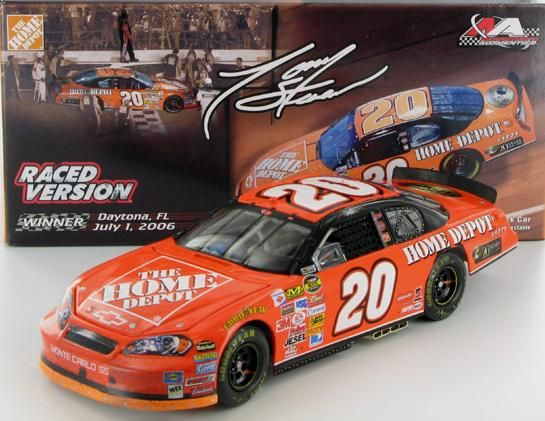 Tony Stewart #20 Home Depot/Daytona Raced Win 2006 Monte Carlo