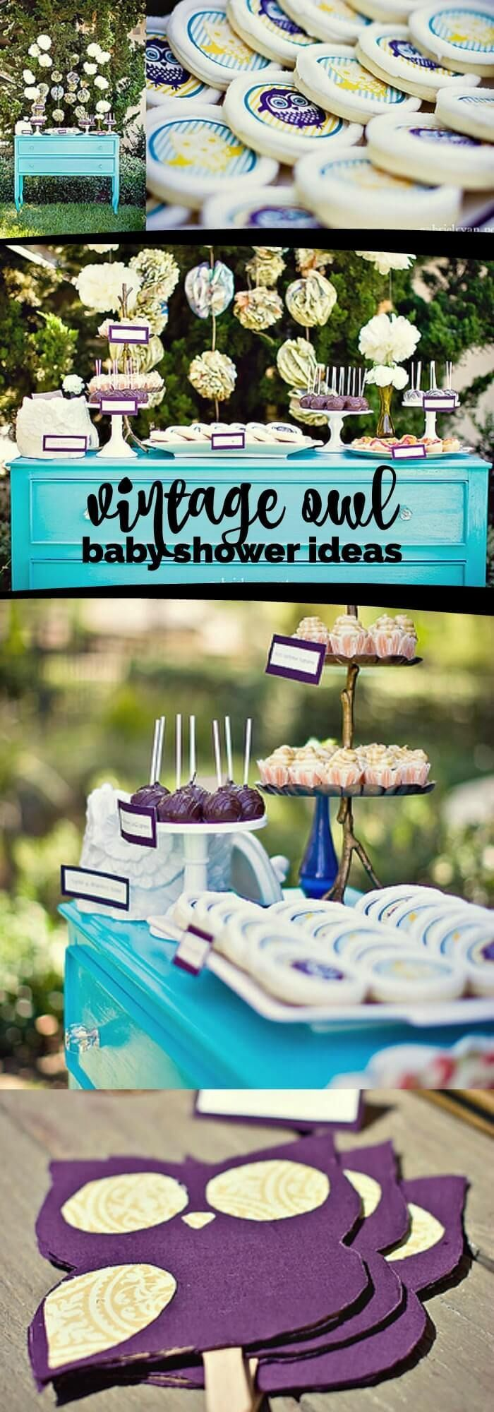 Hosting a baby shower and need some food ideas look no further since - Vintage Owl Themed Boy S Baby Shower