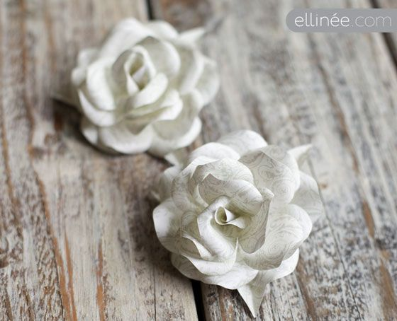 How to Make a Paper Rose Wreath | The Elli Blog