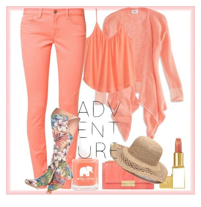 """""""Adventure"""" by bren-johnson ❤ liked on Polyvore featuring American Eagle Outfitters, H&M, Mavi, Tom Ford, J. Mendel and Gottex"""