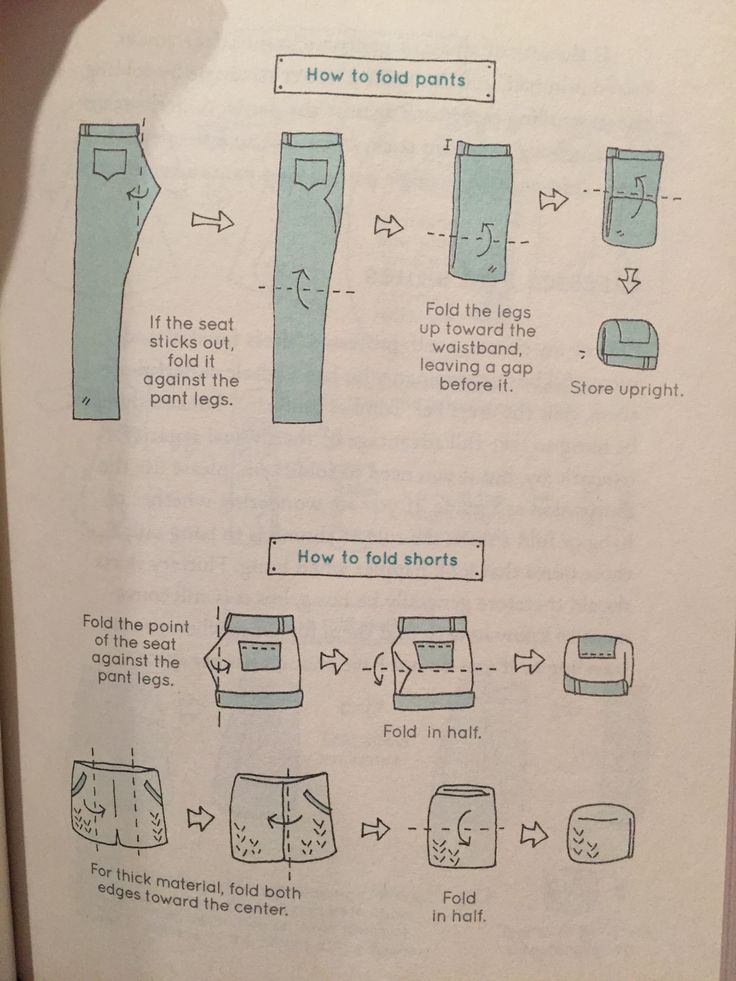 KonMari How to Fold Pants and shorts