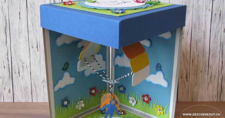 Geschenkbox Überraschungsbox Explosionsbox Fallschirm Gleitschirm Tandemsprung Gutschein