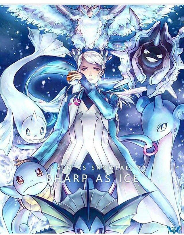 My favourite leader in pokemon go blanche pok mon for Go fish mystic
