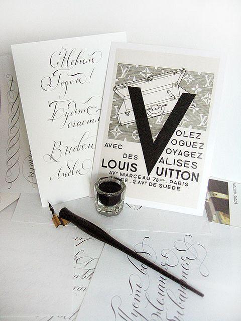 Каллиграфия для Луи Виттон   Calligraphy for Louis Vuitton., via Flickr.