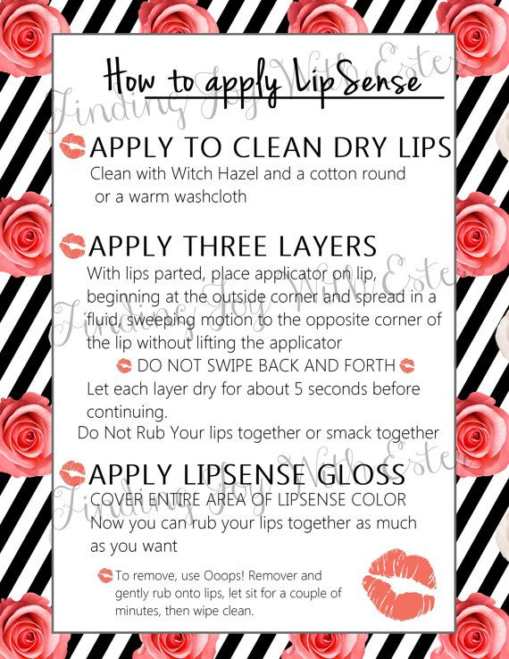 How to Apply Lipsense, Tips and Tricks Printable. Instant ...