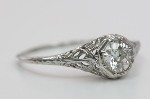 Vintage 1920s engagement ring.