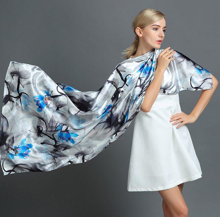Elegantný hodvábny šál rozmerov 160 x 80 cm - Mystique