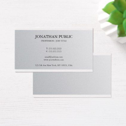 The 25 best luxury business cards ideas on pinterest luxury trendy sophisticated silver look plain luxury business card reheart Choice Image
