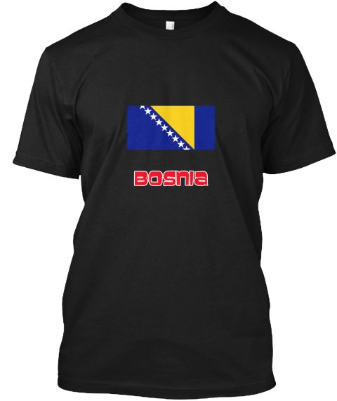 Bosnia Flag Retro Red Design Black T-Shirt Front - This is the perfect gift for someone who loves Bosnia. Thank you for visiting my page (Related terms: I Heart Bosnia,Bosnia,Bosnian,Bosnia Travel,I Love My Country,Bosnia Flag, Bosnia Map,Bosnia Languag #Bosnia, #Bosniashirts...)