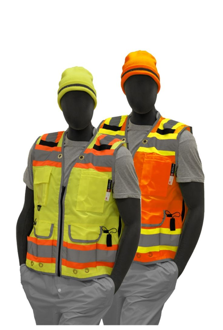 Safety Vest Majestic 753235 CL2 Hi Vis Premium Vest