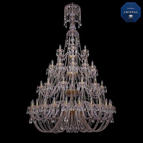 Люстра Большая Bohemia Ivele Crystal 1406/24+12+12+6/530-230/4d/G exclusive - купить по лучшим ценам в интернет-магазине Декор и Свет