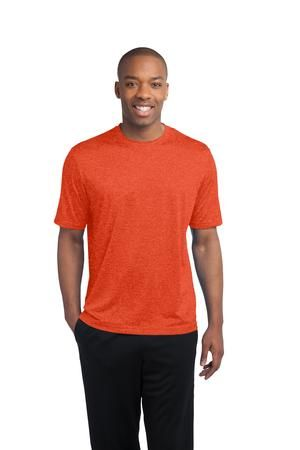 Sport-Tek® -  Heather Contender Scoop Neck Tee. Bring on the competition. This value-priced, ultra breathable tee takes on any activity with sweat-wicking performance and heathered good looks. - Arizona Cap Company - (480) 661-0540 Custom Printed & Embroidered. Visit our website for the colors available and the price.