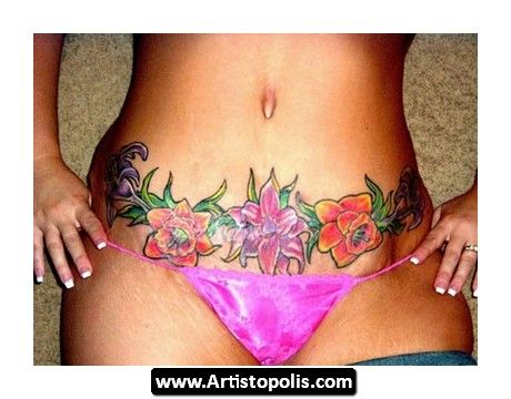 Tummy tuck tattoos tummy tuck tattoo cover up for Tattoo above vagina