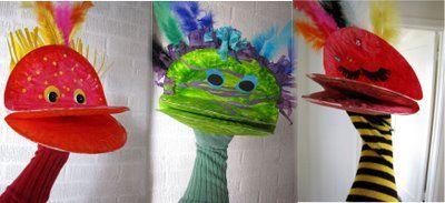 Paper plate puppets. Cute!: Life Magic, Art Crafts, Ordinari Life, Socks Puppets, Art Ideas, Hands Puppets, Plates Puppets, Paper Plates, Birds Puppets