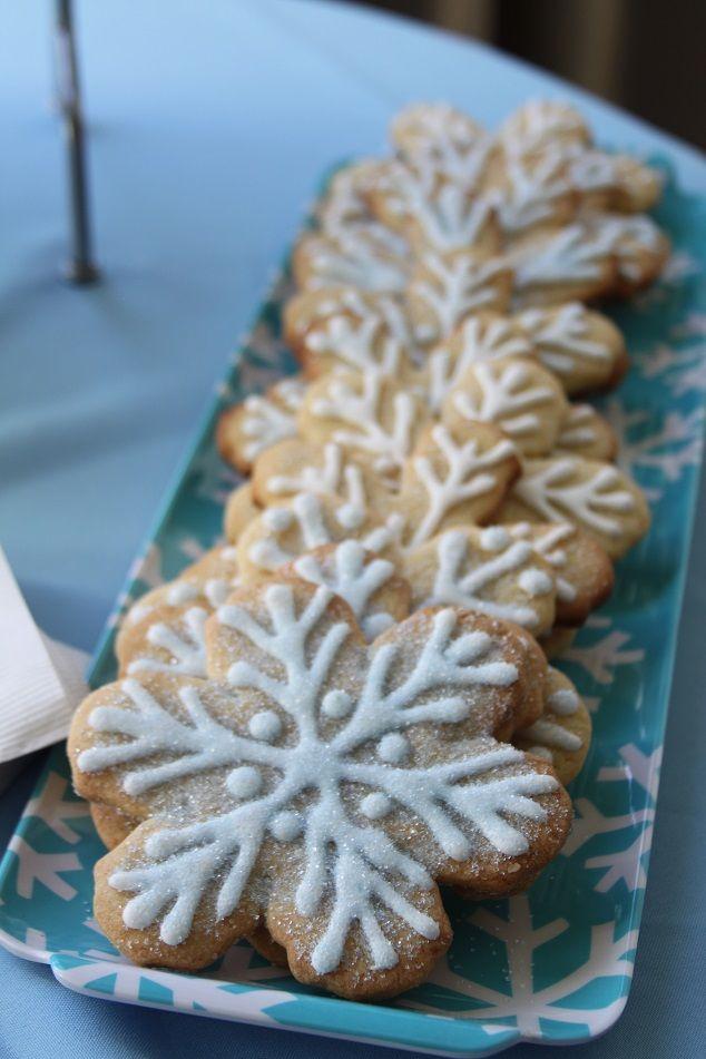 Winter Wonderland Baby Shower  Snowflake Cookies