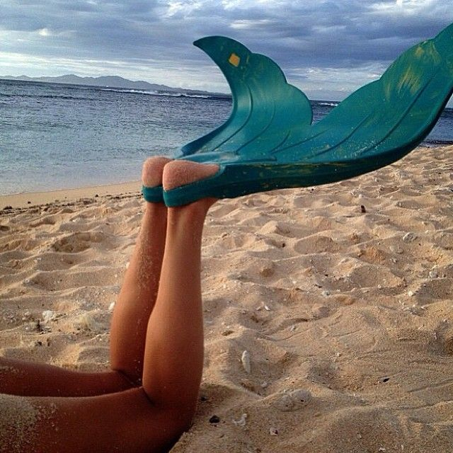 my fins, because as of yet no one has magically transformed me like in the little mermaid and I have no ability whatsoever to do so myself.