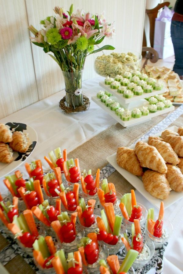 Adorable baby shower ideas, and party food for any occasion! #appetizers #showermenus
