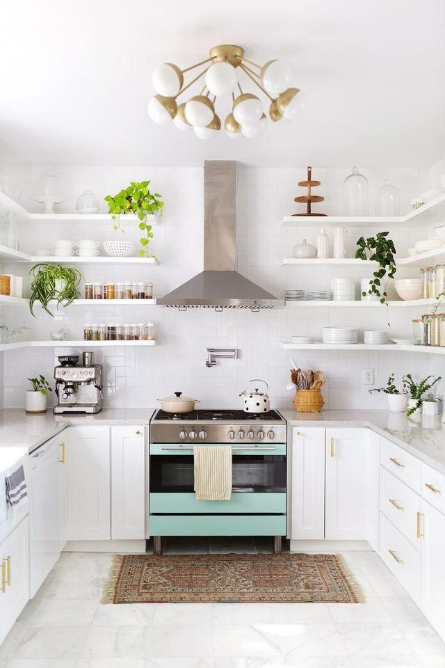 Even A Small Area Rug Can Bring So Much Character To This Bright Kitchen Whitekitchen Interior Design Kitchen Home Decor Kitchen