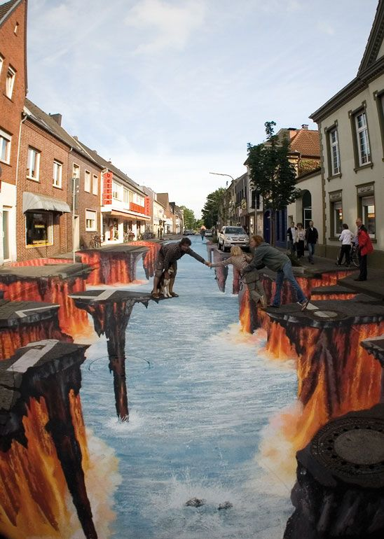 THIS IS SERIOUSLY COOL - Edgar Mueller, a German artist majored in Street Art 3D or Street Painting