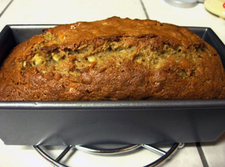 """I was given this recipe in Culinary School by one of my Professors, and I can't get enough....This is her written biography...'This is my mom's dense, excellent and definitely unhealthy banana nut bread recipe.  This is great at parties, but hazardous at home.  Use any type of fat in place of the butter, such as shortening or oil.  It works with brown or white sugar"""".  I followed the recipe to the exact measurements, and I will have to admit that I almost ate the whole loaf at one sitting…"""