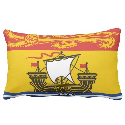 Provincial Flag Of #NewBrunswick Throw Pillows