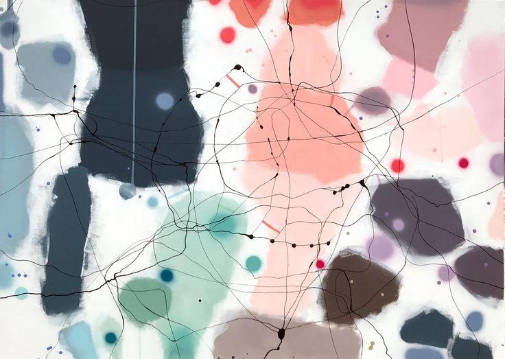 Painting: DONT LOOK DOWN 100x140 cm. Vibeke Lerfeldt Bjerker - www.bjerker.net