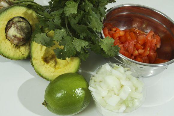 Ingredientes do guacamole